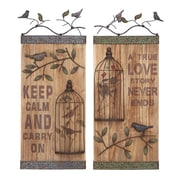 Woodland Imports 2 Piece Assorted Wall D cor Set
