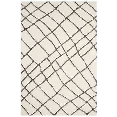 17 Stories Isair Ivory Area Rug; 3' x 5'