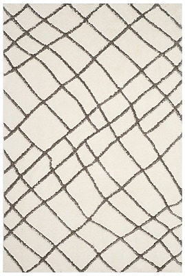 17 Stories Isair Ivory Area Rug; Square 6'7''