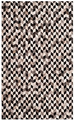 17 Stories Patricio Leather Hand Tufted Gray Area Rug; 3' x 5'