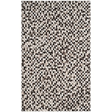 17 Stories Patricio Leather Hand Tufted Gray Area Rug; 5' x 8'
