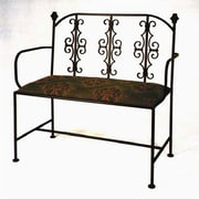Red Barrel Studio Alise Loveseat Bench; Burnished Copper
