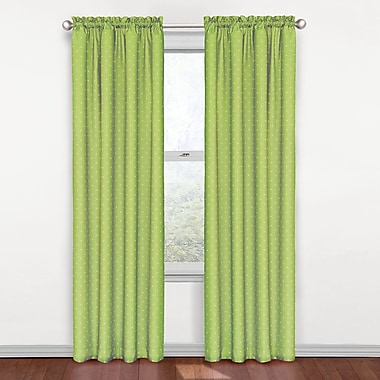 Zoomie Kids Fredericksburg Polka dots Blackout Thermal Rod pocket Curtain Panel; Green