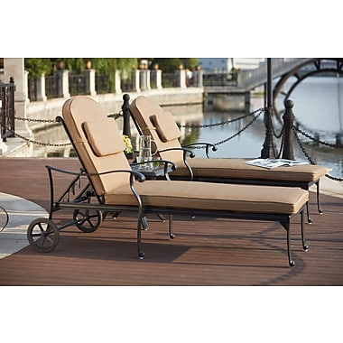 Astoria Grand Melchior 3 Piece Chaise Lounge Set w/ Cushions