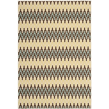 Brayden Studio Kelston Grey/Ivory Outdoor Area Rug; 6'7'' x 9'6''