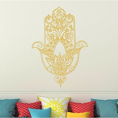 Decal House Fatima Hand Wall Decal; Cream