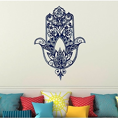 Decal House Fatima Hand Wall Decal; Blue