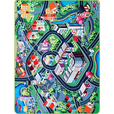Zoomie Kids Freeport Blue/Teal Area Rug; Rectangle 5'3'' x 7'3''
