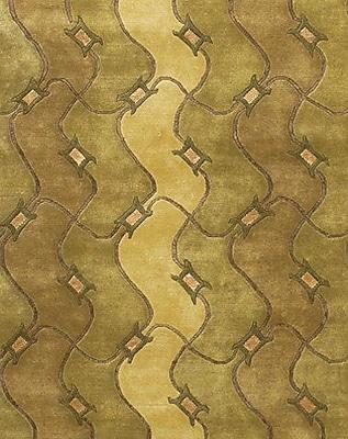 Fleur De Lis Living Caines Brown/Tan Geometric Area Rug; Round 7'9''