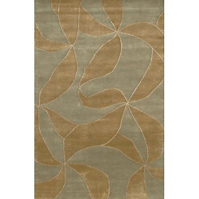 Fleur De Lis Living Caines Brown/Tan Area Rug; Runner 2'6'' x 7'6''