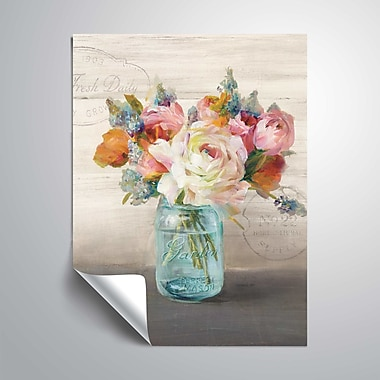 ArtWall French Cottage Bouquet Wall Mural; 24'' H x 32'' W