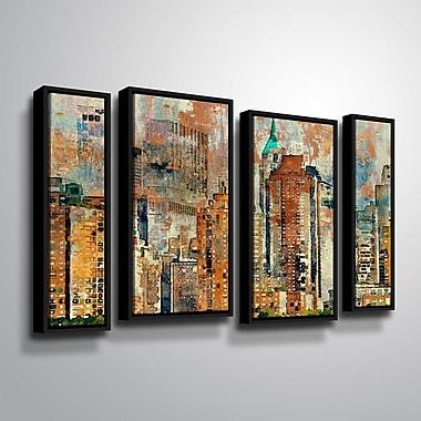 Latitude Run 'Colorful New York 2' Graphic Art Print Multi-Piece Image; 24'' H x 36'' W