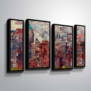 Latitude Run 'Colorful New York II 2' Graphic Art Print Multi-Piece Image; 36'' H x 54'' W
