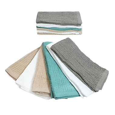 Symple Stuff Cotton Mop Dishcloth (Set of 12); Assorted