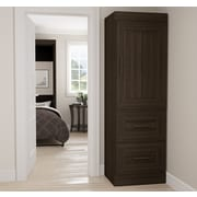 Latitude Run St. Mark''s Place Storage 25'' W Closet System; Dark Chocolate