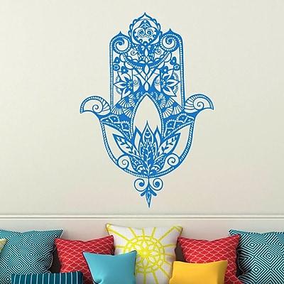 Decal House Fatima Hand Wall Decal; Ice Blue