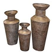 Entrada 3 Piece Metal Pot Planter Set