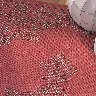 Bungalow Rose Amedee Red Indoor/Ourdoor Area Rug; 2' x 3'7''