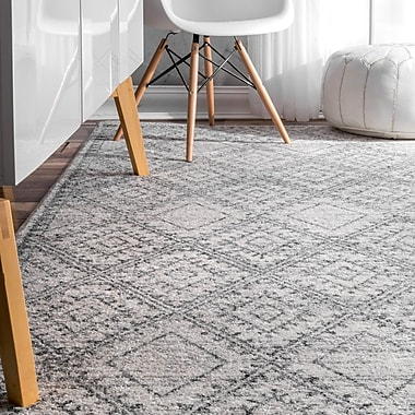 Bungalow Rose Nethermere Gray Area Rug; Rectangle 8'2'' x 11'6''