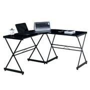 Ebern Designs Bickham L-Shaped Corner Computer Desk; Black