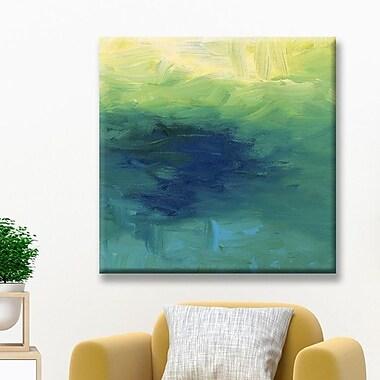Ebern Designs 'Blue Waters' Print on Canvas; 30'' H x 30'' W