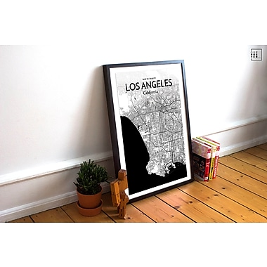 OurPoster.com 'Los Angeles City Map' Graphic Art Print Poster in Ink; 20'' H x 16'' W