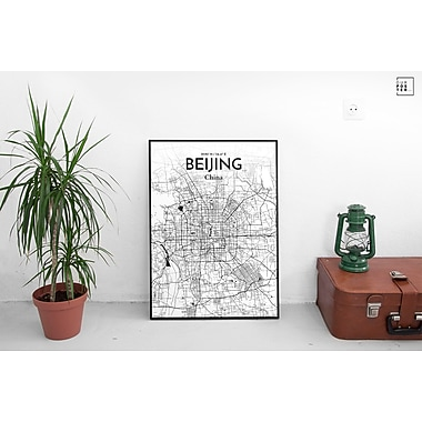 OurPoster.com 'Beijing City Map' Graphic Art Print Poster in Ink; 17'' H x 11'' W