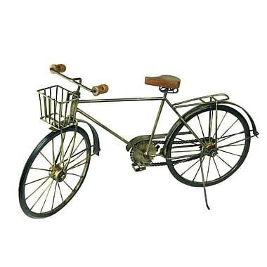 Williston Forge Nathanael Decorative Iron and Wood Bicycle Figurine