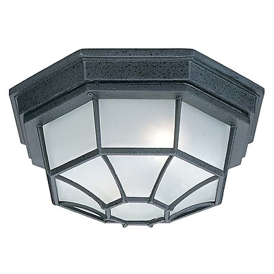 Winston Porter Mackay 2-Light Flush Mount; Black