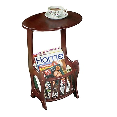 Winston Porter Maeystown Oval Wooden Magazine End Table