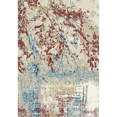 Ebern Designs Rosario Red/Beige Area Rug; Runner 2'2'' x 7'7''