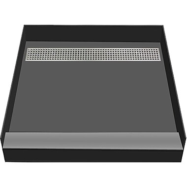 Tile Redi 48'' x 48'' Single Threshold Shower Base w/ Designer Grate; Polished Chrome