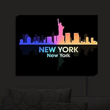 East Urban Home 'City V New York New York' Graphic Art Print on Wood
