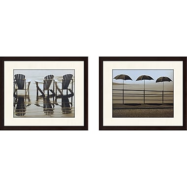 Highland Dunes 'Muskoka Chairs' 2 Piece Framed Photographic Print Set