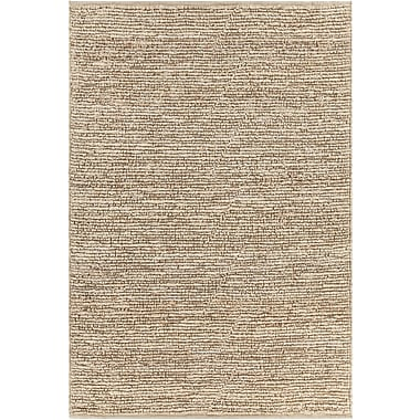 Longshore Tides Lilliana Textured Jute Bleached Area Rug; 9' x 13'
