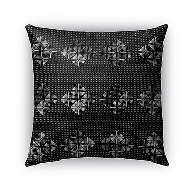Foundry Select Albion Indoor/Outdoor Euro Pillow; Black