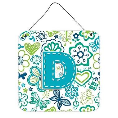 Zoomie Kids 'Flowers and Butterflies' Graphic Art Plaque; D