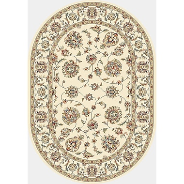 Astoria Grand Attell Ivory/Ivory Area Rug; Oval 2'7'' x 4'7''