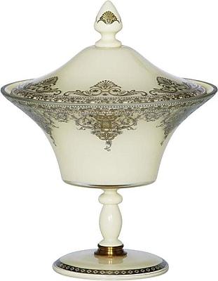 BradburnHome Filigree Pedestal Decorative Jar