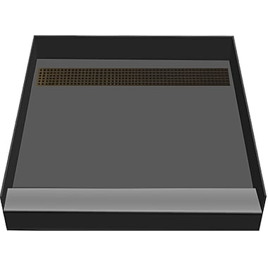 Tile Redi 48'' x 48'' Single Threshold Shower Base w/ Designer Grate; Oil Rubbed Bronze