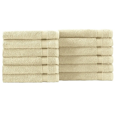 Latitude Run Wash Cloth 12 Piece Towel Set (Set of 12); Ivory