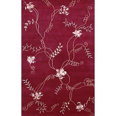 Fleur De Lis Living Caines Red Area Rug; 7'9'' x 10'6''