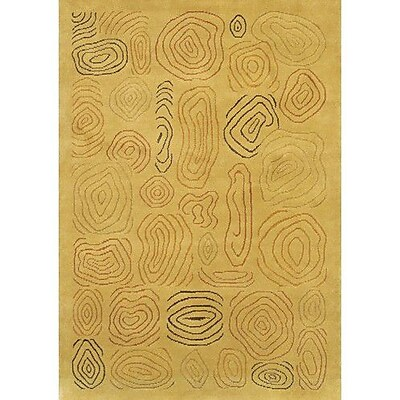 Fleur De Lis Living Caines Hand Woven Gold/Yellow Area Rug; 7'9'' x 10'6''