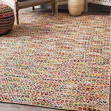 Bungalow Rose Napa Hand Loomed Yellow Area Rug; Rectangle 7'6'' x 9'6''
