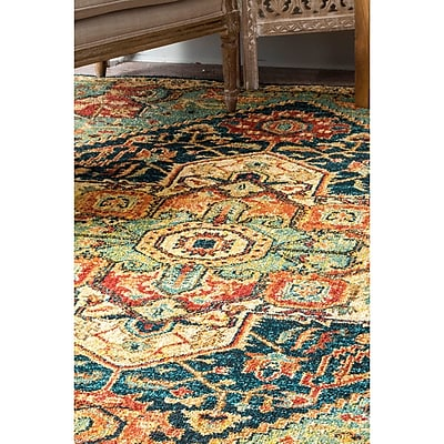 Bungalow Rose Bluff Trail Green Area Rug; Rectangle 5' x 7'5''
