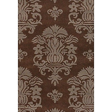 Charlton Home Graysville Brown/Tan Area Rug; Round 7'9''