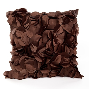Ivy Bronx Cordes Throw Pillow; Chocolate