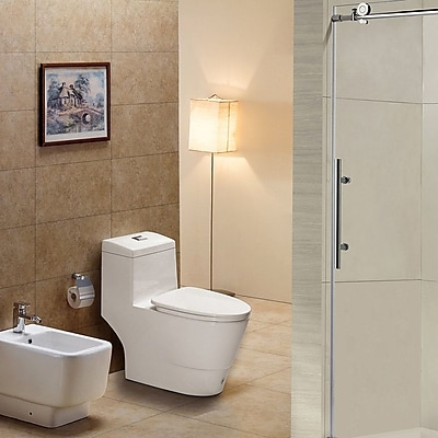 WoodBridge Dual Flush Elongated One-Piece Toilet