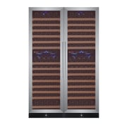 Allavino 344 Bottle FlexCount Classic Series Four Zone Convertible Wine Cellar; Stainless Steel