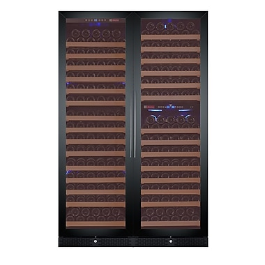 Allavino 346 Bottle FlexCount Classic Series Triple zone Convertible Wine Cellar; Black